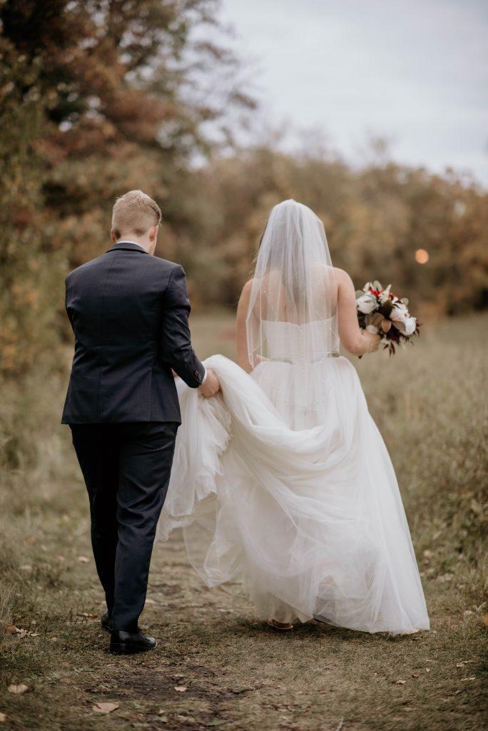 Wedding Photo taken in Winnipeg Manitoba during fall
