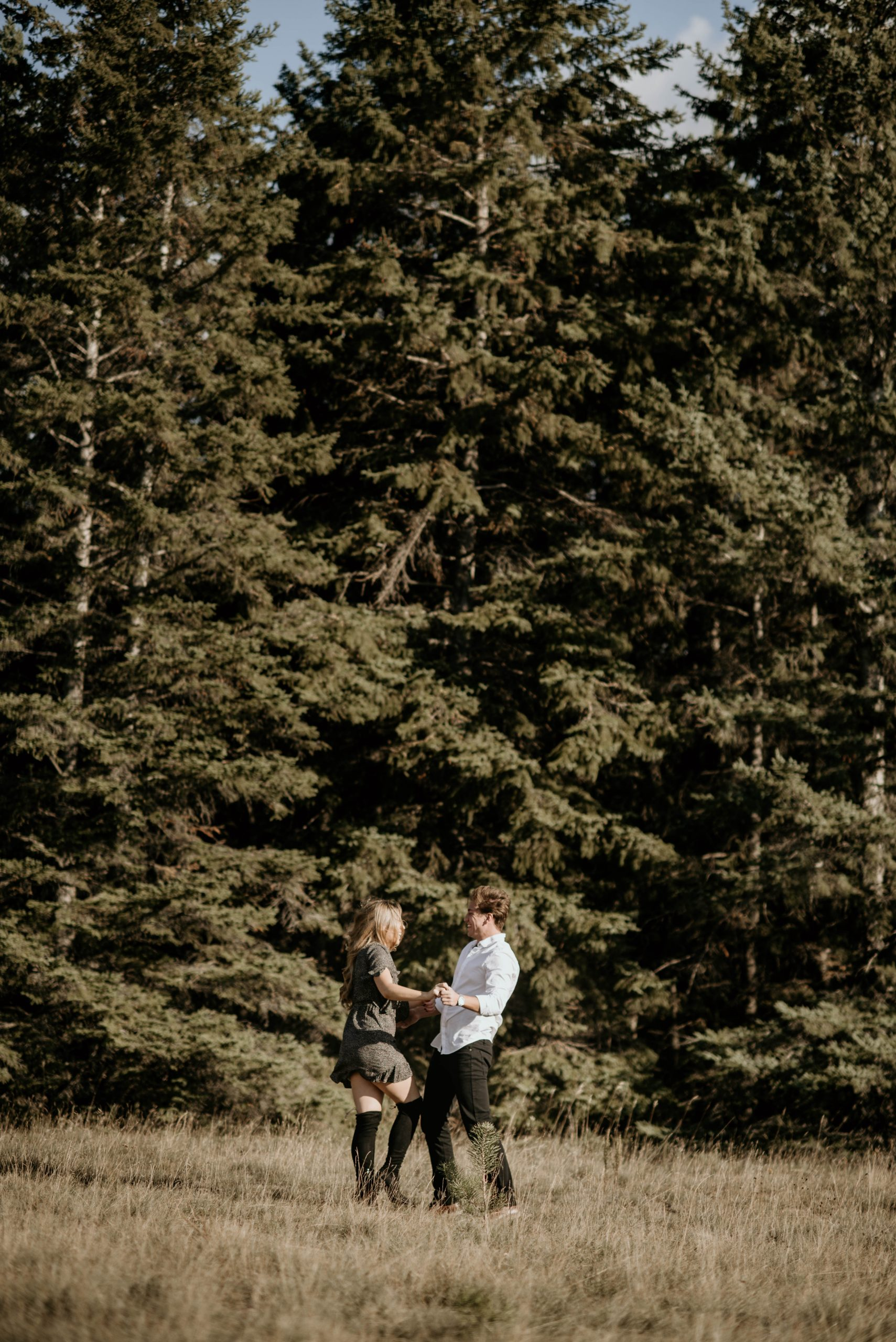 Couple Dancing at Birds Hill at Photo session